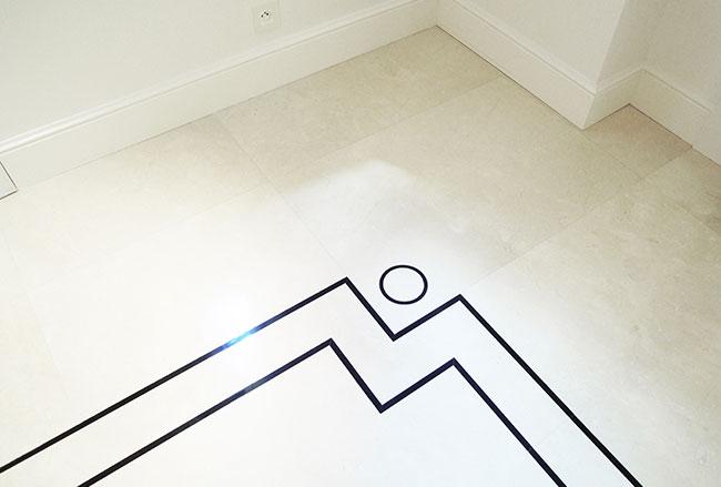Revêtement en marbre avec design personnalisé