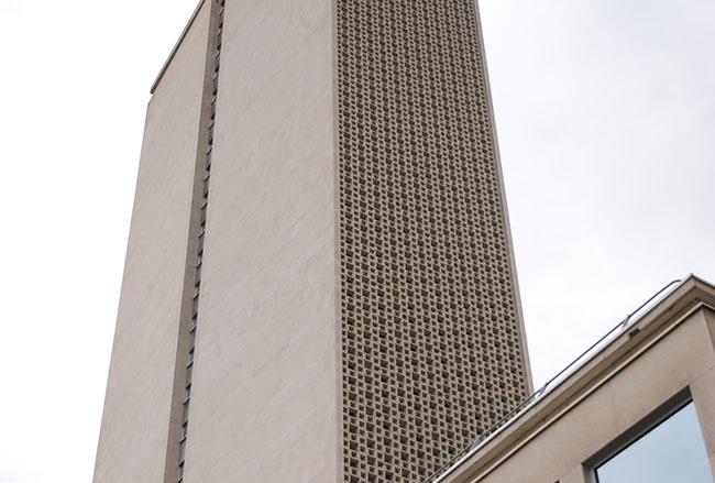 Réhabilitation de façade avec création d'ascenseur panoramique pour la Tour des Archives du Conseil départemental de Rouen