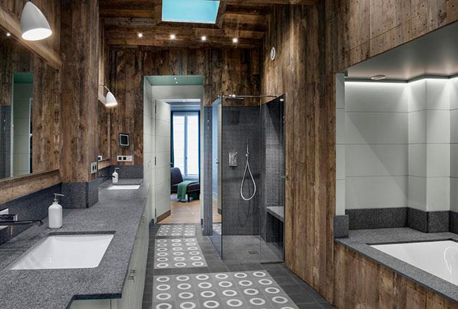 Création de salle de bains chez particulier